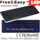 popular wired keyboard with LED (KB-3308L)