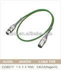 3meter green xlr male to male female low noise professional microphone audio cable/wire