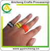 Promotional items rubber silicone finger rings debossed
