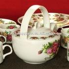 hot sale super hand painted ceramic porcelain tea pot