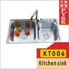KT006 stainless steel kitchen sink,indian ktichen design,stainless steel sink,free standing sink,farm,campaing sink,kitchen sink