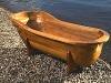 WTC-8011 luxury round wooden bathtub