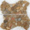 pebble stone tile/interlocked shape pebble tile