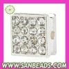 Fashion Square Crystal Alloy Beads For Bracelets Wholesale