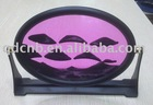 Flowing Sand Picture with Nice Oval Plastic Frame and Stand
