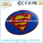 Zinc alloy metal superman belt buckle engraving logo