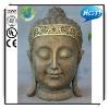 23 Inches Bronze Color Fiberglass Buddha Face Statue For Garden Deco.