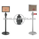 SS Retractable Barrier Stands with Sign Post