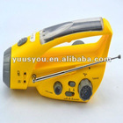 hot sale solar and Hand crank generator powered flashlight