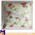 beautiful flower printed soft home decorate embroidery cushion