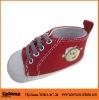cute infant shoes canvas 2012 red color