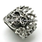 2013 latest design Hip Pop style 316+L stainless steel mens ring