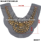 fashion beaded neckline trim for ladies suits(QSA-0449)