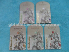 fashionable production gold stamp paper hang tags