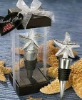 Starfish Chrome Bottle Stopper