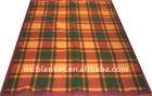 Grid cotton blanket