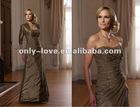 colorful Taffeta strapless jeweled beads on the bodice mother evening dress with jacket OLM110