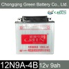 12V 9AH GREEN battery made in China (12N9A-4B)
