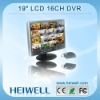 "High Quality 19"" LCD Standalone 16 Channel H 264 DVR"