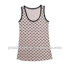 women 100%cotton 1*1 rib 160 gsm full printing tank tops