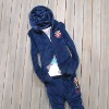 laides beautiful embroidered velour set for hoody