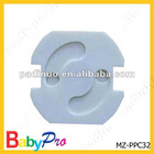 safety plug cover with glue strip backside