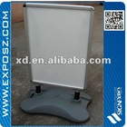 outdoor A board with plastic water base with wheels