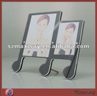 Pretty Conjoint Rectangle Magnetic Counter Acrylic/PMMA 2 Picture/Photo/Card Holder/Frame/Stand