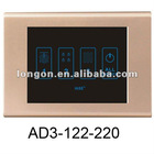3 Lines Room Light Linked Control Touch Screen Switch