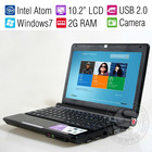 Windows 7 Student Mini Laptop Computer Cheap Netbook PC/Intel 1.86GHz Dual Core/2GB RAM/320G HDD/Wifi/Camera/New Year's Gift