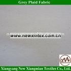 Good Quality CVC Grey Plaid Fabric