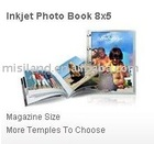 Holiday gift: Free design software Mini-color home made inkjet DIY photo paper memory album & book, 8:5 size