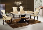 marble dining table and chair