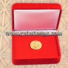 gold coin with plastic box
