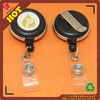 Plastic retractable badge reel with metal edge,the clip can revolve 360!