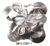 pu leather flower brooch