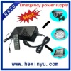 Emergency 12V power supply with li ion battery for led light with remote controller