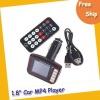 "Free shipping car mp4 player--- 1.8"" LCD Wireless Car MP4 MP3 Player FM Transmitter SD MMC USB Black"