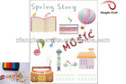 Novelty summer acrylic rubber stamp for kids