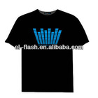 Sound Disco Rave Party Dance Music Activated EL LED T-Shirt Fresh New Designs