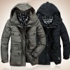 2012 High grade european style winter padding long coats for men
