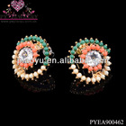 Colorful ring resin boys earrings studs-PYEA900462