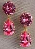 Warm and Shimmering! 18K Pink CZ Teardrop Earrings