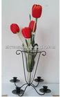 Candle holder standing V flower vase