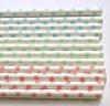 light pink blue green Mini Polka Dot Paper Straws