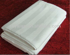 100%cotton white stripe super king size sheeting, duvet cover and pillow case