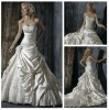 Glamorous Sweetheart Beading Lace Ivory Satin Ready Made Wedding Dresses