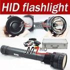 35W/45W/65W 3 gear adjustable 6000LM HID Flashlight with 6600mA Battery