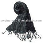 Fashionable Black Cotton Scarf