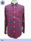 Yarn dyed flannel plaid long sleeve shirt
